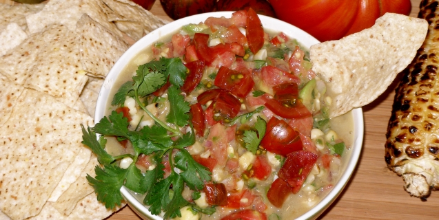 Fresh Heirloom Tomato Salsa