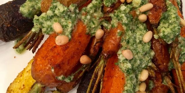 Carrot Top Pesto